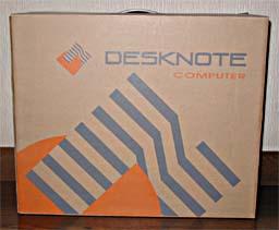Desknote A929 combo:よくある手提げ付きのノートパソコン梱包のダンボールケース