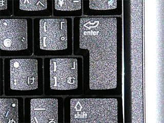 hp nx9005 キーボードの[enter]の幅が小さい