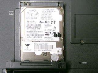nx9005 内蔵HDDを取り出した状態
